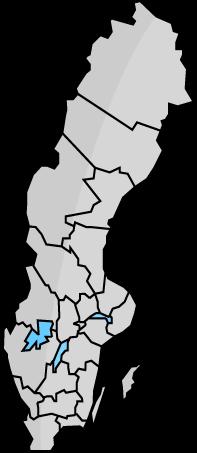 Karta över Sveriges län och hinderbanor.