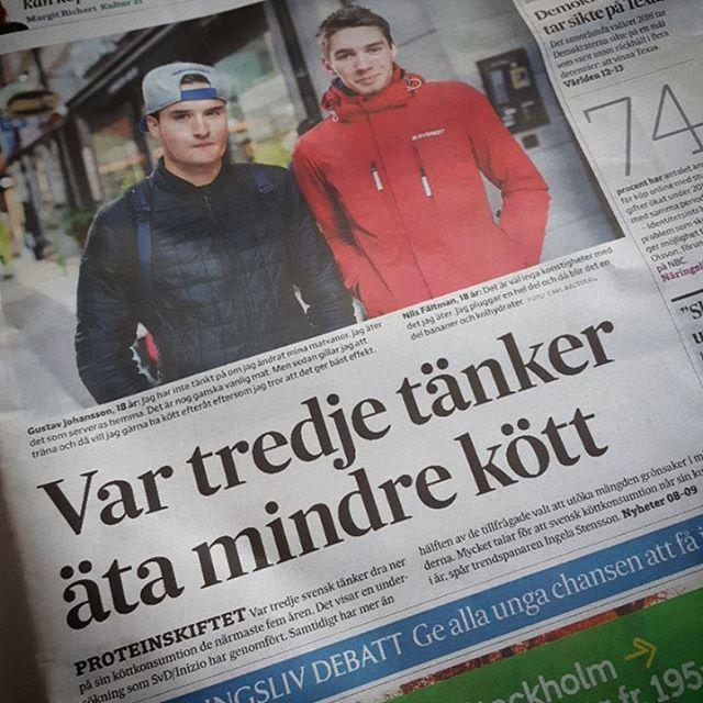 Idag i Svenska Dagbladet. Var tredje tänker dra ner på sin köttkonsumtion och varannan har ökat sitt grönsaksätande!  Yeay!