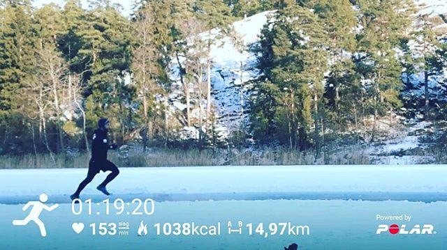 Vinterlöpning på is Plötsligt kan vilken sjö som helst bli en löparbana!