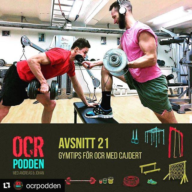 Hur du köttar på gym med en gymråtta. Mängder med tokseriösa tips inför kommande hinderbanelopp.  In och lyssna nu!  @ocrpodden ・・・ Avsnitt 21. Att träna i klassiskt gym för OCR-atleter. Vi snackar om @everestchallengeocr, hur du kan träna på gym, hur du resonerar med vätskeintag vid längre lopp och vad som tametusan alltid inträffar när Andreas bokar tid hos en naprapat.  PS. Till Everest Challenge ska du ta med dig en pannlampa och absolut inte en ficklampa...