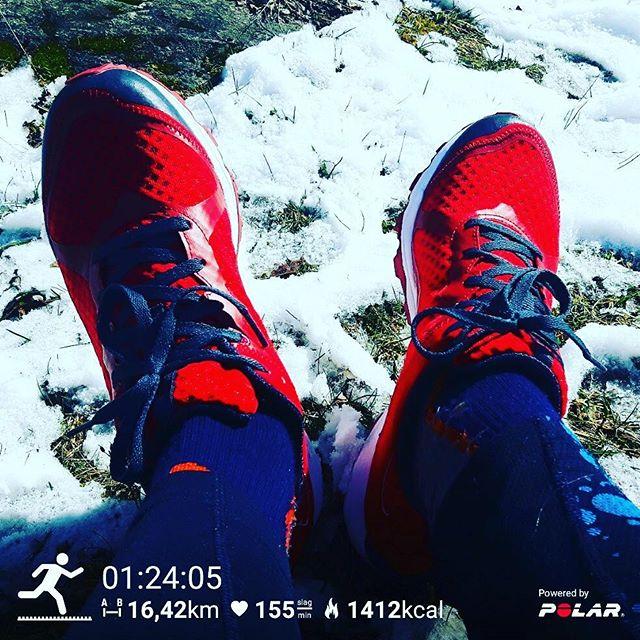 Fabulous shoes from Merrell! Allout Crush Light Red.  Vilken dröm!  Snö, skog, grus, asfalt och lera. 16 km skön lördagstrail i semihögt tempo i ett par dojor som direkt seglade upp i topp!  @merrellnordics