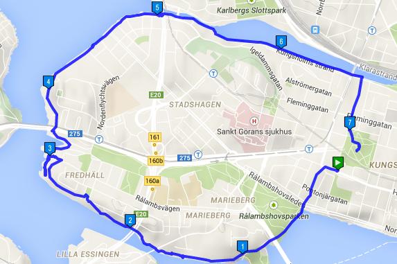 kungsholmen karta Träna utomhus   Team Superkroppen runt Kungsholmen kungsholmen karta