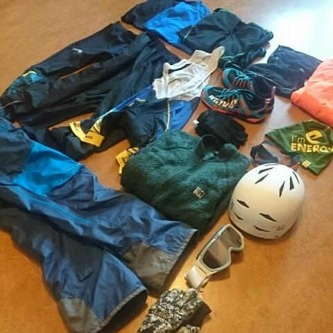 Utrustning att springa i på Everest Challenge
