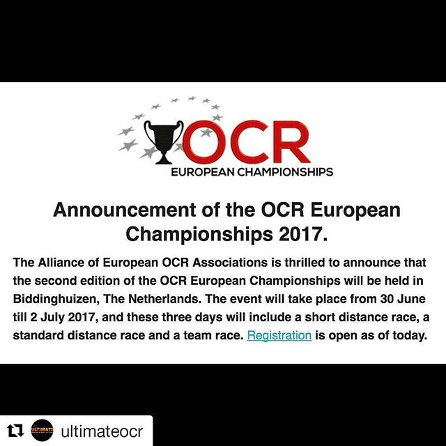 @ultimateocr with @repostapp ・・・ Nu är det bara att börja träna! Den 30 juni till den 2 juli är det tävling i dagarna 3. Du kvalificerar dig hos oss! Mer info kommer kontinuerligt. Lycka till!