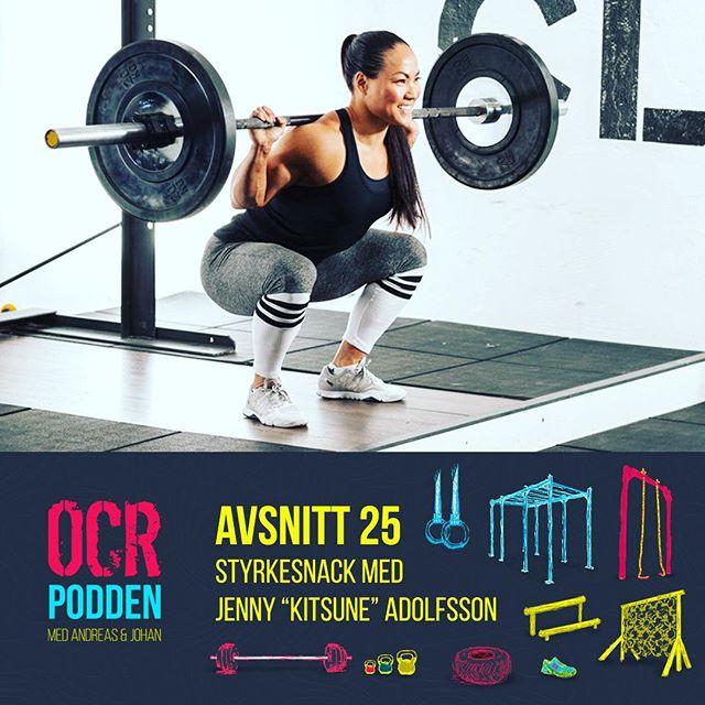 """Vi har träffat Styrkelyftaren, gladiatorn och numera Crossfit-atleten Jenny """"Kitsune"""" Adolfsson @jennykitsune och snackat om att träna och tävla i styrka i olika format. Vi får veta vad som egentligen händer bakom kulisserna på Gladiatorerna och Jenny tipsar om hur vi OCR-atleter kan bli lite mer explosiva. Dessutom rapporterar vi om starten på OCR-säsongen med @militaryfitnessweden Boot Camp Challenge samt går genom förra veckans lyssnarenkät. Mycket nöje!"""