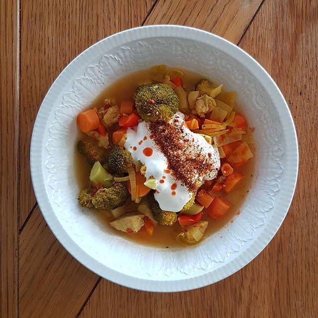 """Soppa är grymt i många avseenden. Enkelt att laga, nästan omöjligt att misslyckas med och grymt att frysa in.  Här är min favorit:  - 5dl vatten med buljong. - Hacka ner """"hårda"""" grönsaker. (Vi snackar lök, purjolök, morot, paprika, broccoli och allt du kan komma på) - Koka upp. - Färdigstekt kyckling (valfritt) - 3 pressade apelsiner  Kryddor: Cajun. Eller mexikanskt. Hittar du inget i affären, kör paprika, cayennepeppar och salt/peppar.  Lycka till!"""
